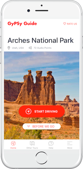 Arches National Park Tour by GyPSy Guide App