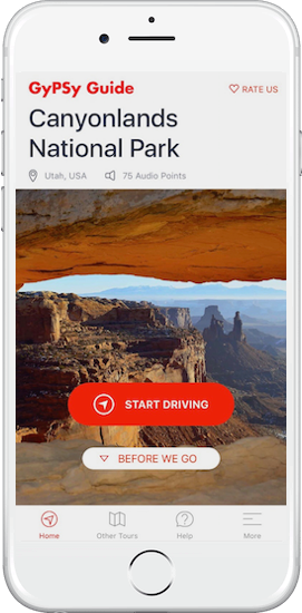 Canyonlands National Park Tour by GyPSy Guide App