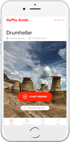 Drumheller Tour by GyPSy Guide App