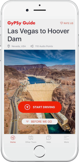 Las Vegas to Hoover Dam Tour by GyPSy Guide App