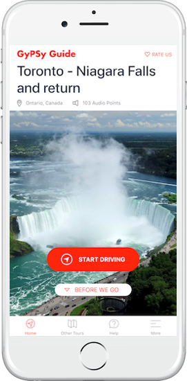 Toronto to Niagara Tour by GyPSy Guide App
