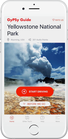 Yellowstone National Park Tour by GyPSy Guide App