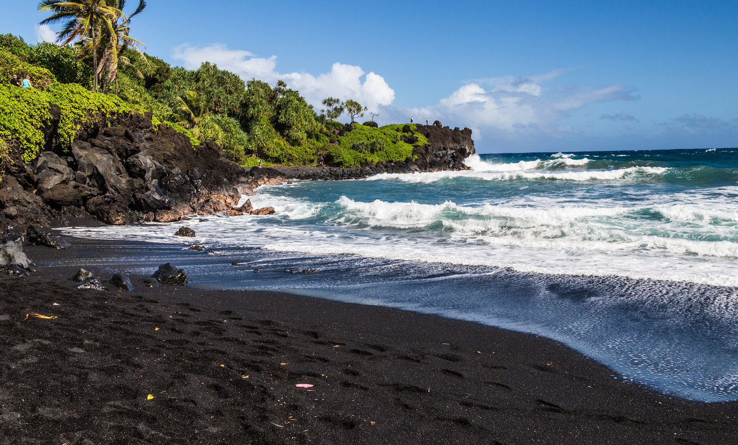 Black Sand Beach, Road to Hana GyPSy Guide Driving Tour App