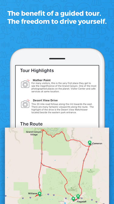 Grand Canyon South Rim Driving Tour App Gypsy Guide