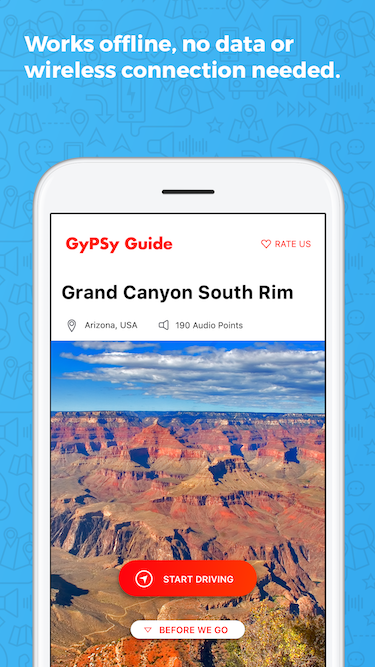 Grand Canyon South Rim Driving Tour App | GyPSy Guide